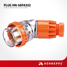 Hennepps IP67 250V 32A 3Pin Korea Electrical Plugs