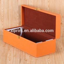 Luxury Wine Packaging Box,Wine Bottle Box,Wooden Leather Wine Carrier