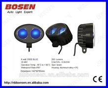 8W BLUE LED Work Light For 4 x 4 ATV OFFROAD BOAT Lamp Fog Driving Round spot