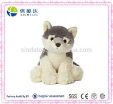 Hot Sale Sitted Gray Wolf Stuffed Plush Animal Wolf Toy