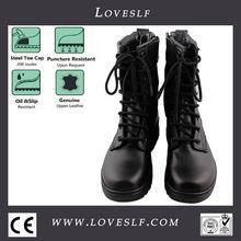 2014 new aus echtem leder schwarze armeestiefel/Militär springerstiefel Frauen/Mann
