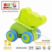 Wooden Baby Pull Along battery operated cartoon animal dog sex toy