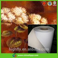 matt waterproof polyester oil canvas for exhibition arrangement, factory price