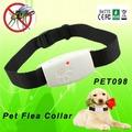 electrónico de ultrasonidos para perros de pulgas cuello proteger