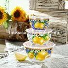 Elegant Style New Bone China Airtight Bowl set of Lemon Fragrance