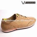 Zapatos casuales 2014, zapatos suaves nubuck en color beige Z1456-1-7