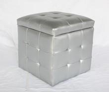 Simple Design Square Storage Ottoman Stool
