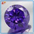 Round CZ Stone /Loose Amethyst Gemstone For Jewelry