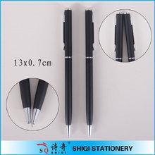 Twist action black color aluminum pen
