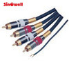 Factory supply 2 rca to 2 rca plug audio patch cable