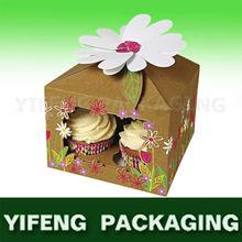 Birthday cake cardboard packing box with handle printing