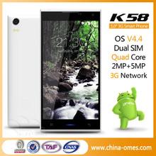 K58 new 3G GPS Wifi 5 inch 8 ROM 5MP camera cheap gps wifi 3g mobile phone