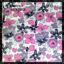 beautiful flower printing 100% cotton poplin fabric