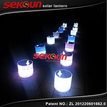 10 Led Light 90 Lumens Inflatable Hand Crank Solar Lantern with Patent