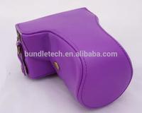 Leather Camera Case for CANON M2 Purple