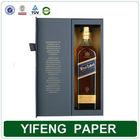 Paper packaging box for wine bottle carrier