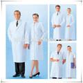 Blanco o azul europea lab-cl-01 ropa de trabajo desechable estéril quirúrgico bata de algodón tc uniforme de enfermera de la tela