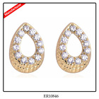 Fake Gold Alloy With Rhinestone Earring Wholesale