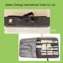 9pcs knife set with cloth bag