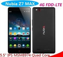 ZTE original Z7 Max smartphone 5.5 Inch 1920*1080 Quad Core Android 4.4 China mobile