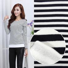 Thickening black and white stripe single plush velvet fabric wholesale