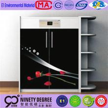 with branded logo walnut color four doors shoe cabinet/shoe rack