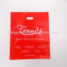 2013 custom printed cheap christmas cosmetic punch gift bag