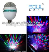 Auto run 3pcs*1WLED disco light led crystal magic ball ligh for Christmas Day