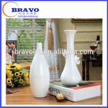 art white ceramic bottle flower vase