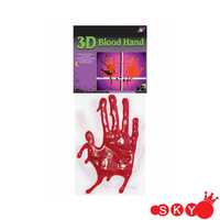 Halloween Decoration Dripping bloody Hands Gel Cling window decorations
