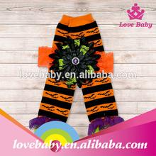Wholesale halloween style orange with black polka stripe baby chevron leg warmer LBE4091394