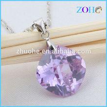 alibaba fashion jewelry purple zircon pendant necklace as gift