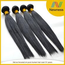 Wholesale natural color silky straight wave brazilian hair in dubai