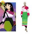 caliente inuyasha sango traje de cosplay kimono japonés las mujeres ropa cos para fiesta de halloween