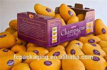 Mango Box Cardboard Fresh Fruit Box Foldable Corrugated Box