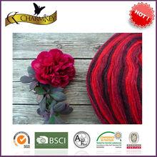 Rainbow like fancy knitting wool yarn on cone