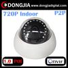 Network home indoor h.264 onvif p2p 720p dome ip surveillance camera kit