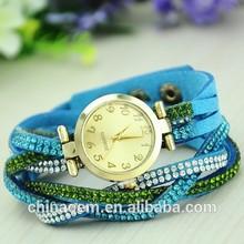Luxury rhinestone wrap Bracelet gold dial casual women dress watch relogios khaki quartz brand watch christmas decoration