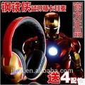 enfriar la magia de sonido de carga usb hombre de hierro tf y fm led inalámbrica bluetooth headset
