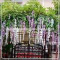 Nuovo design lf092325 glicine artificiale albero/decorativo artificiale da sposa ornamentali glicine alberoin fiore