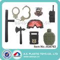 8 piezas de herramientas de plástico para niños esposas de la policía