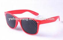 Red Frame Black custom pinhole sunglasses Logo Eye Protect Necessity