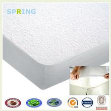 a prueba de agua tela de felpa de plástico de la cubierta del colchón