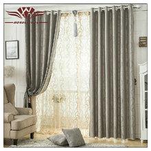 grey jacquard blackout fabric curtain