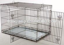 Powder coated iron wire folding dog kennel cage