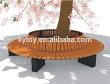 outdoor garden furniture round wooden bench