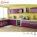 Fornecimento de fábrica modernos armários de cozinha armário de cozinha pvc bancada pia
