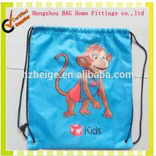 2014 fashion hot sell China cheapest customized nylon drawstring bag