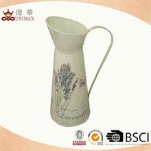 Home decorative flower jug/Metal flower jug/Small metal pitcher
