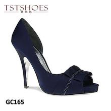 2014 Customized Design Women Platform Heels Shoes Satin Wedding High Heel Shoes Korean High Heel Shoes